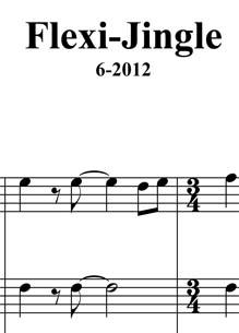 Partitur Ausgabe für flexibrass Jingle komponiert von Micheal Koch *1960